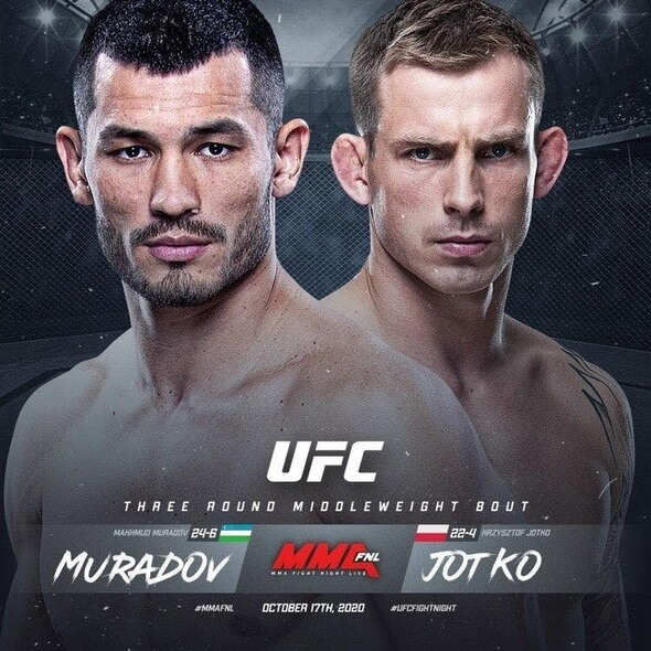 Muradov vs Jotko - UFC Fight Night 181 (foto Facebook Muradov)